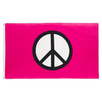 Peace pink - 3x5 ft Flag