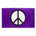 Peace purple - 3x5 ft Flag