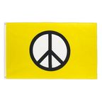 Peace yellow - 3x5 ft Flag