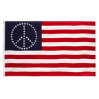 USA Peace Stars - 3x5 ft Flag