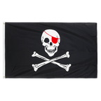 Pirate Red Eye Patch - 3x5 ft Flag