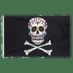 Pirate Sugar Skull - 3x5 ft Flag