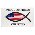 Proud American Christian - 3x5 ft Flag