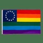 Rainbow Betsy Ross 1777-1795 - 3x5 ft Flag