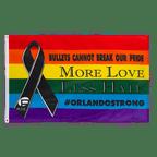 Rainbow Black Ribbon - 3x5 ft Flag