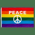 Rainbow Peace Sign - 3x5 ft Flag