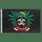 Rasta Skull - 3x5 ft Flag