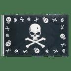 Pirate Bones and skulls - 3x5 ft Flag