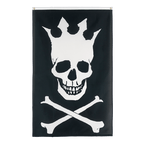 Pirate Skull with crown - 3x5 ft Flag