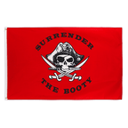 Pirate Surrender the Booty red - 3x5 ft Flag