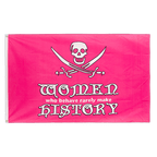 Pirate Women in history pink - 3x5 ft Flag
