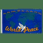 World Peace Map Blue - 3x5 ft Flag