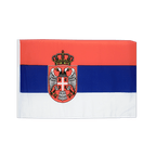 Serbia with crest - 12x18 in Flag
