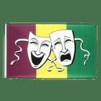 Comedy & Tragedy - Flagge 90 x 150 cm