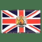 Drapeau Royaume-Uni avec Blason - 90 x 150 cm