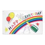 Drapeau Happy Birthday - 90 x 150 cm