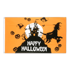 Drapeau Happy Halloween orangé - 90 x 150 cm