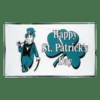 Happy St. Patrick's Day Weiß - Flagge 90 x 150 cm
