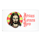 Jesus Loves You - Flagge 90 x 150 cm