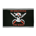Pirat Do whatever you want - Flagge 90 x 150 cm