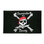 Pirat Surrender the Booty - Flagge 90 x 150 cm