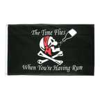 Pirate The Time Flies When You Are Having Fun - 3x5 ft Flag