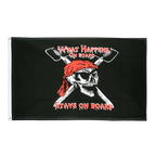 Pirat What happens on board stays on board - Flagge 90 x 150 cm