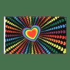 Drapeau Arc en Ciel Amour - 90 x 150 cm