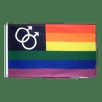 Regenbogen Mars Men - Flagge 90 x 150 cm