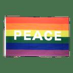 Rainbow with PEACE - 3x5 ft Flag