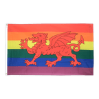 Rainbow with welsh dragon - 3x5 ft Flag
