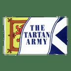 Schottland Tartan Army - Flagge 90 x 150 cm
