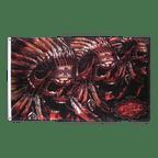 Totenkopf Indianer - Flagge 90 x 150 cm