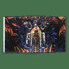 Drapeau Crâne Biker - 90 x 150 cm