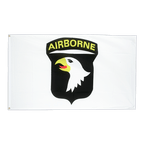 101st Airborne Weiss - Flagge 90 x 150 cm
