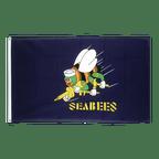Drapeau USA Etats-Unis Seabees - 90 x 150 cm