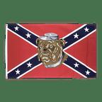 USA Südstaaten Bulldogge - Flagge 90 x 150 cm