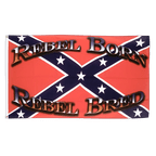 USA Southern United States Rebel Born Rebel Bred - 3x5 ft Flag