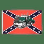 Drapeau confédéré USA Sudiste avec Camion - 90 x 150 cm
