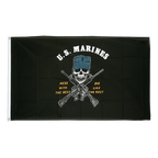 Drapeau USA Etats-Unis US Marine Corps Mess with the best - 90 x 150 cm