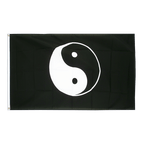 Ying and Yang black - 3x5 ft Flag