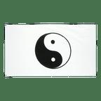 Ying und Yang Weiß - Flagge 90 x 150 cm