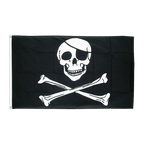 Pirate Skull and Bones - 3x5 ft Flag