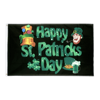 Happy Saint Patrick's Day St Patrick's Black - 2x3 ft Flag