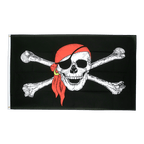 Pirate with bandana - 5x8 ft Flag