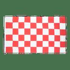 Drapeau pas cher à Damier Rouge-Blanc - 60 x 90 cm
