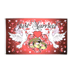 Just Married - 3x5 ft Flag