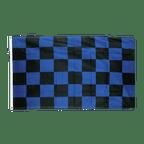 Drapeau à Damier Bleu-Noir - 90 x 150 cm
