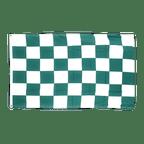 Kariert Grün-Weiß - Flagge 90 x 150 cm