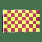 Kariert Lila-Gelb - Flagge 90 x 150 cm